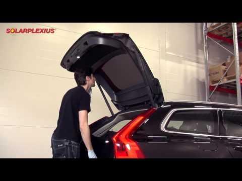 Einbauanleitung Volvo V90 Solarplexius Autosonnenschutz Scheibentönung