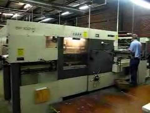 Bobst die cutter - YouTube