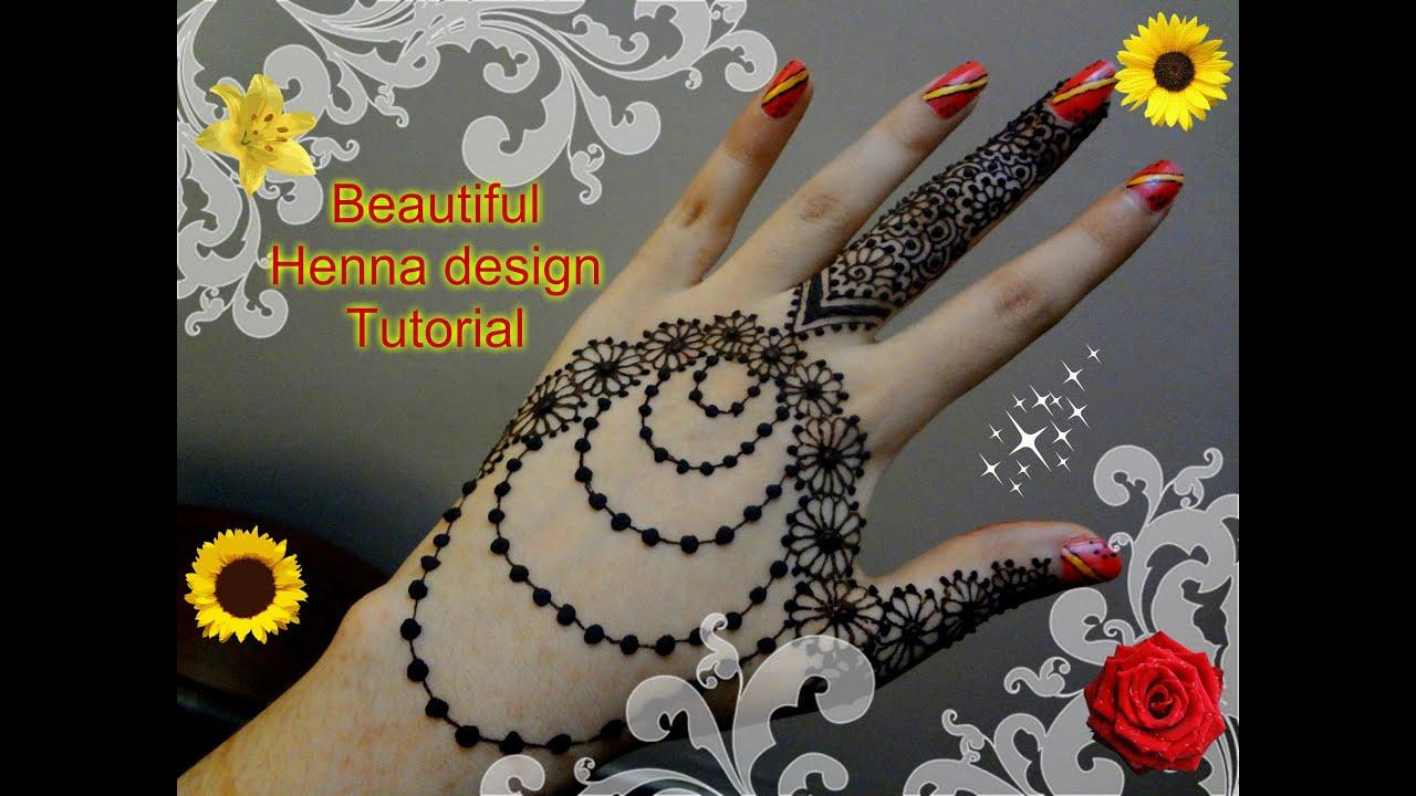 Beautiful Henna Mehndi Jewellery : Best and beautiful henna mehndi jewellery inspired design tutorial