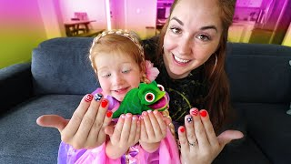 ADLEY PRINCESS MAKEOVER!! Surprise Date with Mom for first Tangled manicure!