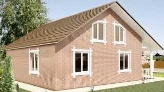 Строительство каркасного дома, облицованного кирпичом от