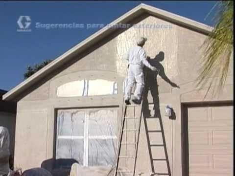 Consejos para pintura exterior edificios youtube for Pintura texturada para exterior