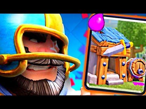 DOWN! SET! BARB HUT! - Clash Royale