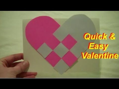 Quick and Easy Handmade Valentine Card - YouTube