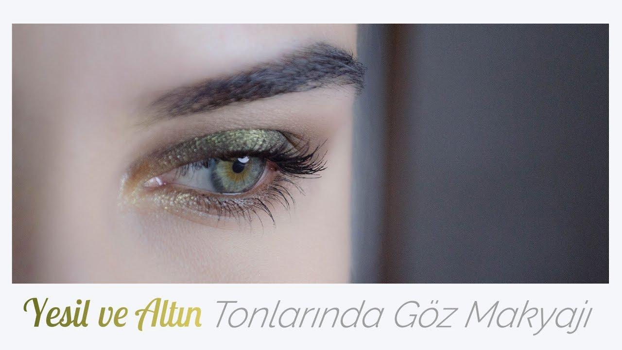 Kahverengi ve Altın Tonlarında Göz Makyajı Nasıl Yapılır