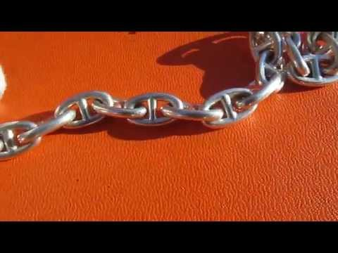Hermes Chaine d.ancre Bracelet 50 grams in weight Silver 925