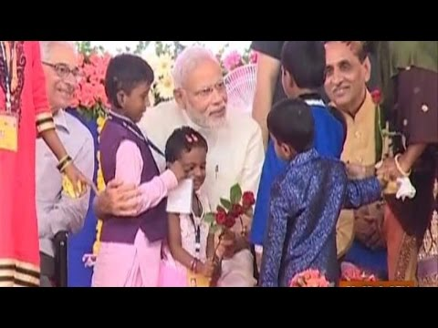 PM Narendra Modi Celebrated His 66th Birthday with 'Divyang' Kids in Gujarat