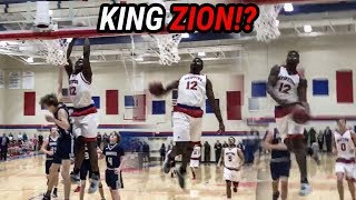 Zion Williamson Puts Down BEST DUNKS EVER After Committing To Duke! POSTERS, WINDMILLS & 360!!