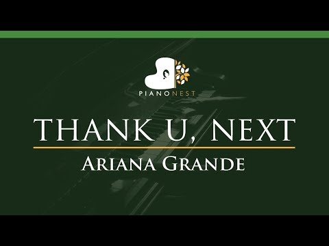 Ariana Grande - thank u next - LOWER Key Piano Karaoke  Sing Along
