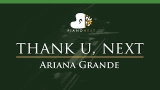 Ariana Grande thank u next LOWER Key Piano Karaoke Sing Along