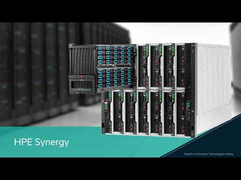 Simplify datacenter deployment and management by choosing the HPE Synergy composable infrastructure