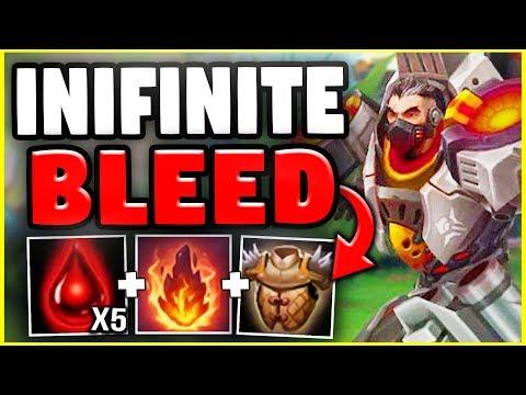 INFINITE BLEED DARIUS! UNLIMITED BLEED DAMAGE WITH THIS DARIUS BUILD! - League of Legends