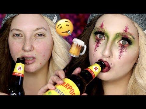 DRUNK GREEN & PINK BULLSH*T BEAUTY   Makeup Tutorial