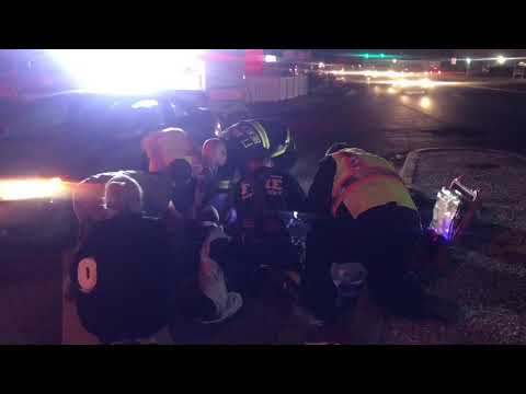 Bicycle accident at Brooks Bridge.