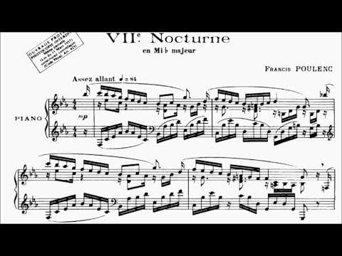HKSMF 71st Piano 2019 Class 129 Grade 8 Poulenc Nocturne No.7 in E Flat Sheet Music 校際音樂節