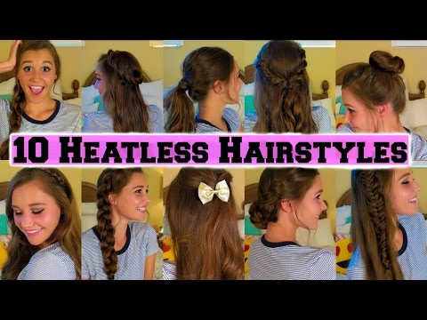 10 Quick Back To School Heatless Hairstyles