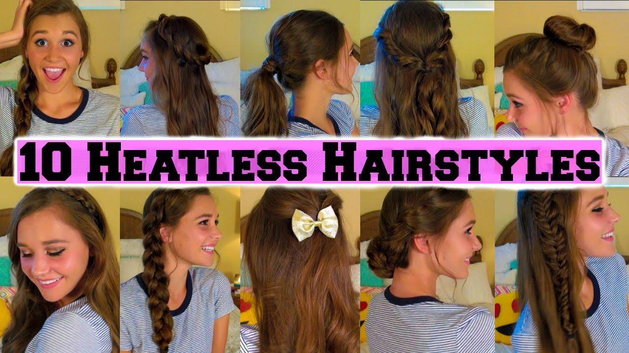 school heatless hairstyles