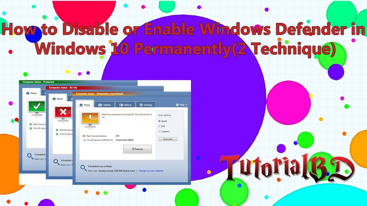 How to Disable or Enable Windows Defender in Windows 10 Permanently(2 easy Technique)