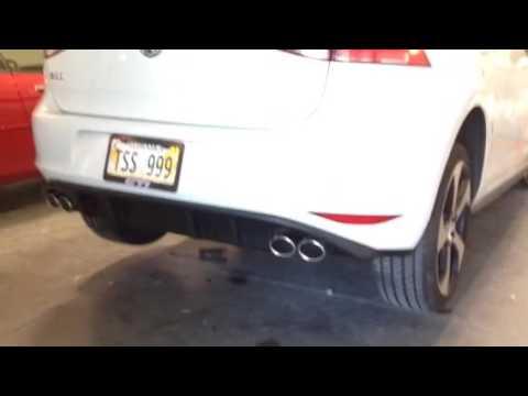 2016 Volkswagen GTI Borla exhaust w/ quad tips Golf R