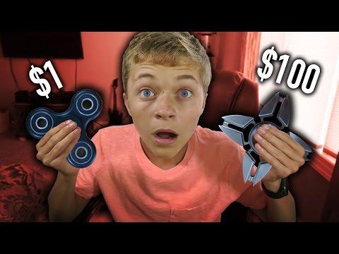 $1 FIDGET SPINNER VS  $100 FIDGET SPINNER!! 😱