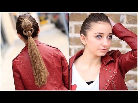 heart ponytail valentine's day