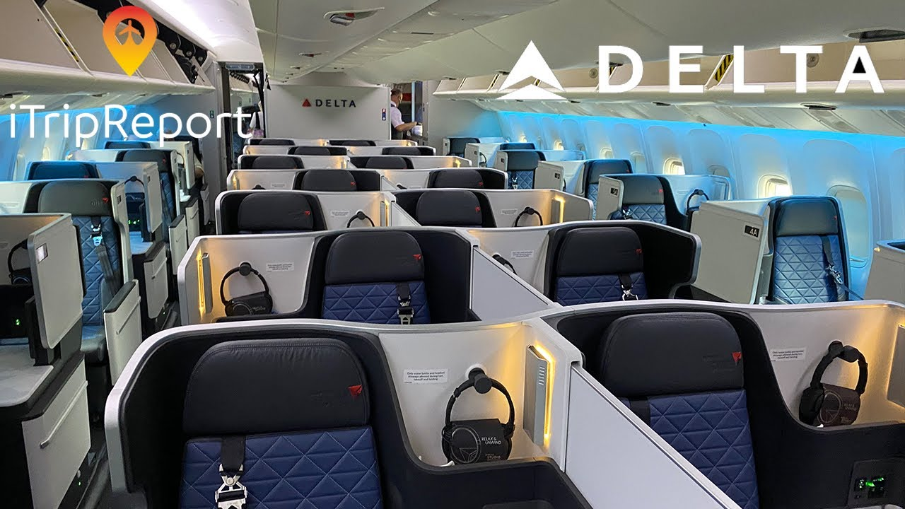 NEW INTERIOR Delta 767-400 Delta ONE Trip Report + Diversion