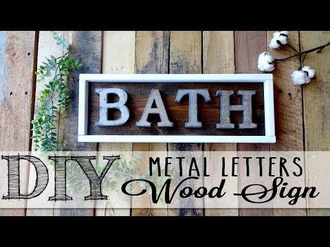 DIY Metal Letters Wood Sign