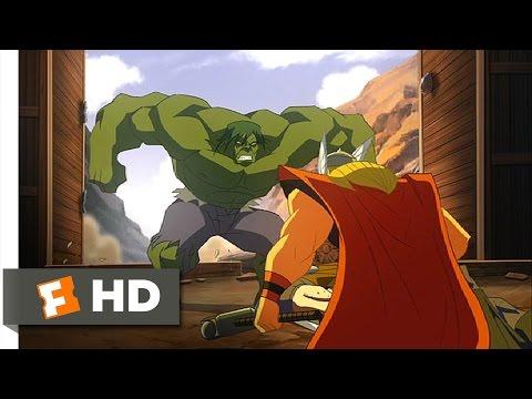 Hulk Vs. (2009) - Hulk vs. Thor: Round One Scene (2/5) | Movieclips