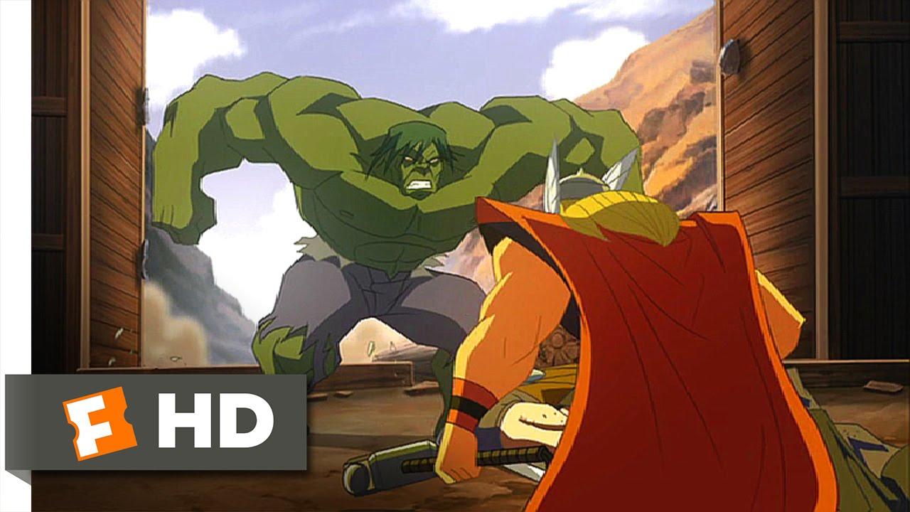 hulk vs 2009 hulk vs thor round one scene 2 5 movieclips