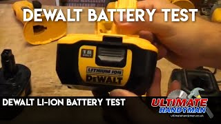 Dewalt Li-Ion battery test
