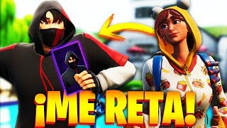 CHICA GAMER CHALLENGES me for IKONIK SKIN in FORTNITE and Pass THIS!.. 🔥😱