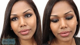Sexy smokey eye with a pop of gold makeup tutorial Thumbnail