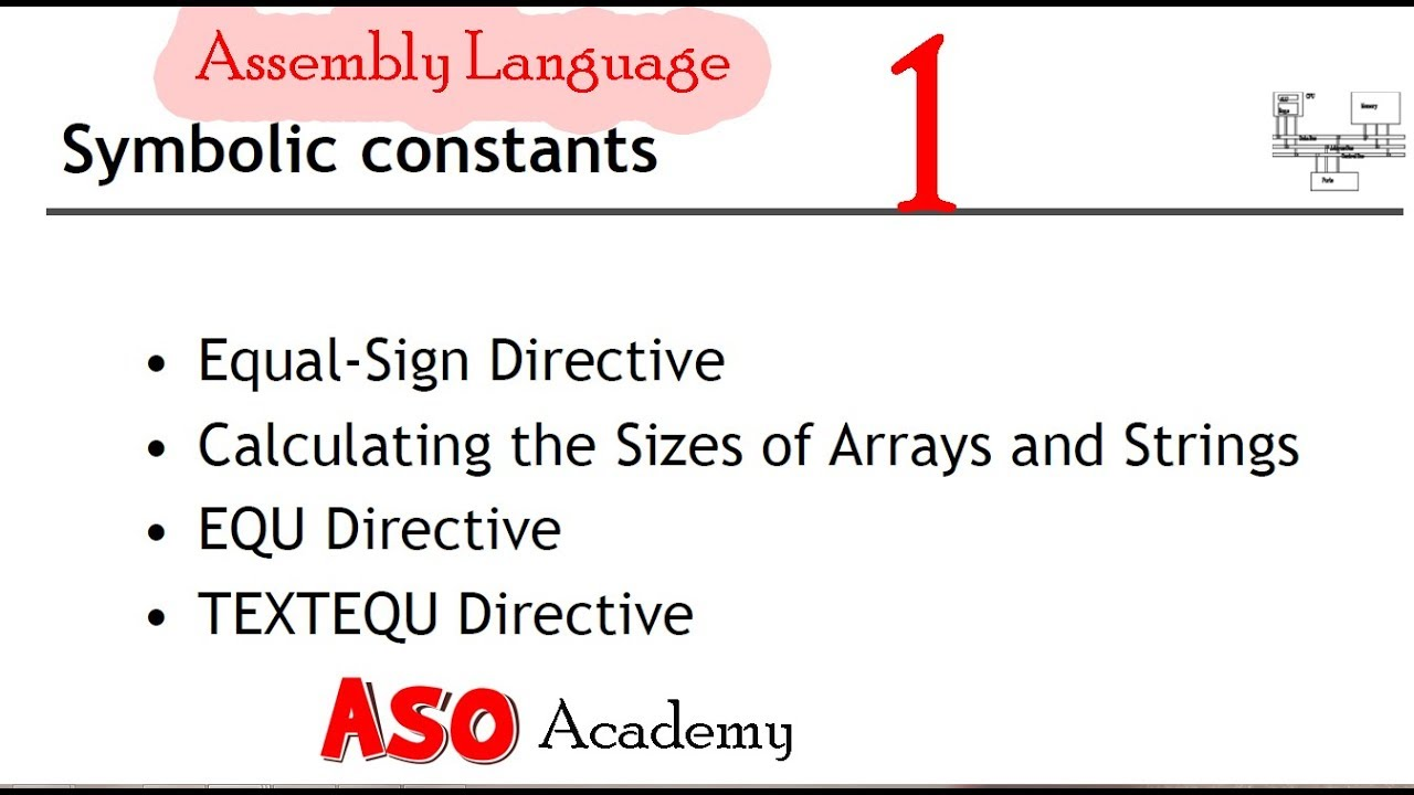 What is symbolic constants equal sign directives in assembly what is symbolic constants equal sign directives in assembly language urduhindi p1 biocorpaavc Choice Image