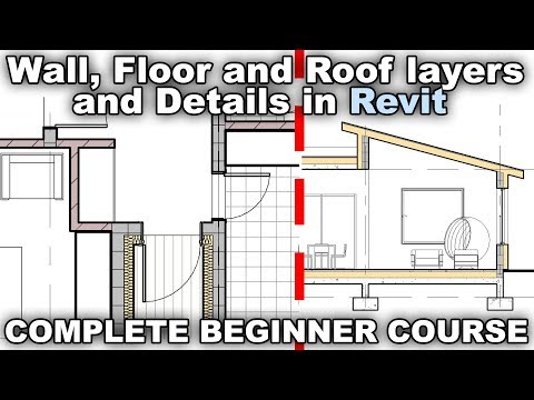 Wall Floor And Roof Layers And Details In Revit Tutorial Youtube