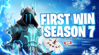My FIRST Win with the ICE KING Skin?! (Fortnite Season 7)