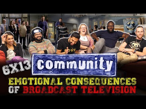 Community - 6x13 Emotional Consequences of Broadcast Television - Group Reaction