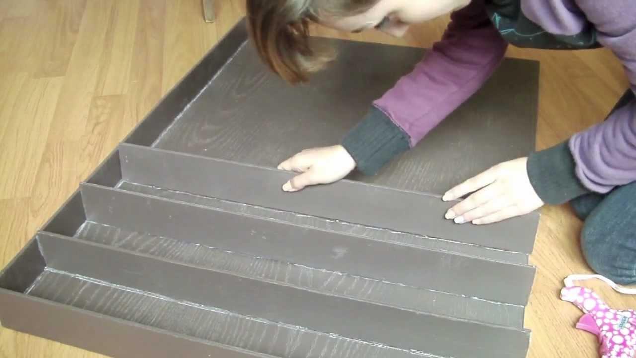diy wood nail polish rack how to hang it youtube. Black Bedroom Furniture Sets. Home Design Ideas