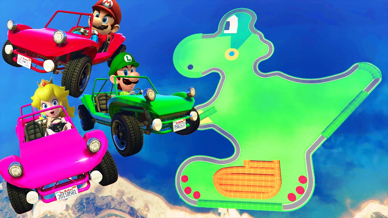 mario kart yoshi circuit gta 5 online youtube. Black Bedroom Furniture Sets. Home Design Ideas