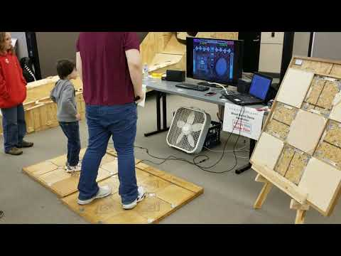 Wooden DDR Pads at Akron Maker Fair