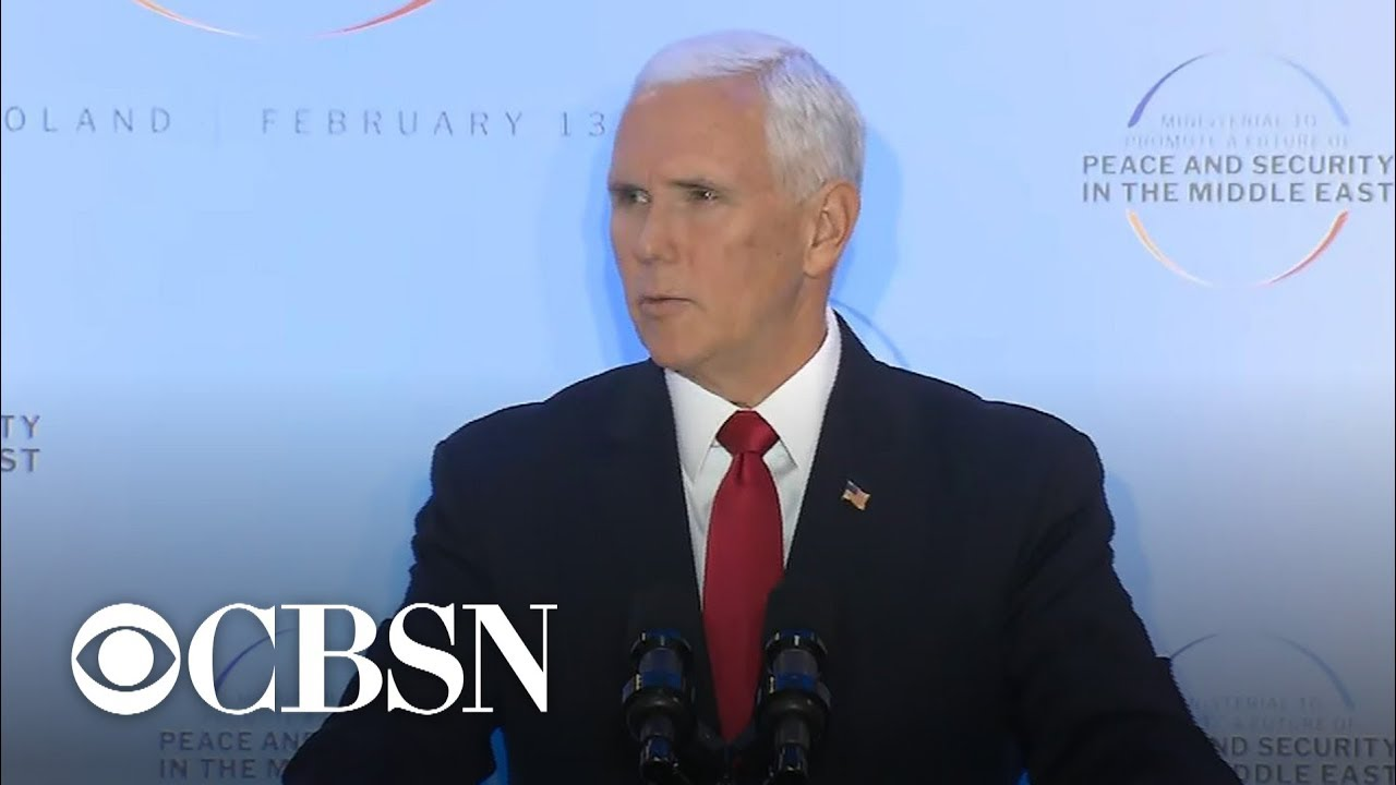 """Pence calls Iran """"greatest threat to peace and security in the Middle East"""""""