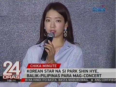 24 Oras: Korean star na si Park Shin Hye, balik-Pilipinas para mag-concert