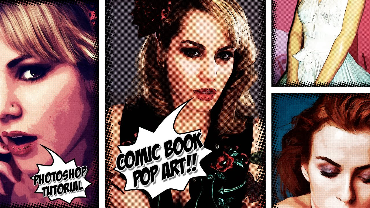 How To Make A Comic Book Pop Art Effect From Photo PSD