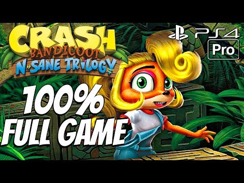 Crash Bandicoot 2 (PS4) - Gameplay Walkthrough 100% Complete All Boxes, All Gems, All Relics
