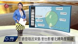 巨爵登陸呂宋島 對台影響北轉角度關鍵 2015-10-18 TITV 原視新聞