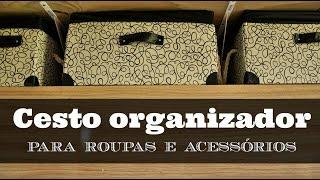 CESTO ORGANIZADOR DIY | #POCFazendoArte Ep. 27