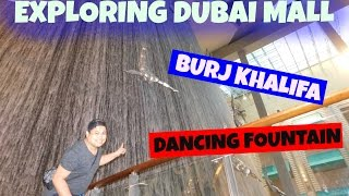 THE DUBAI MALL | BURJ KHALIFA | DANCING FOUNTAIN | PINOY IN DUBAI VLOG!!!