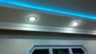 oturma odası asma tavan - led ışık - spot lamba