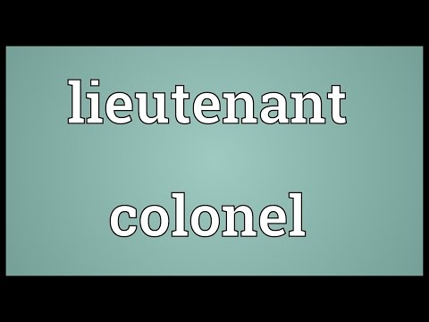 Lieutenant colonel Meaning