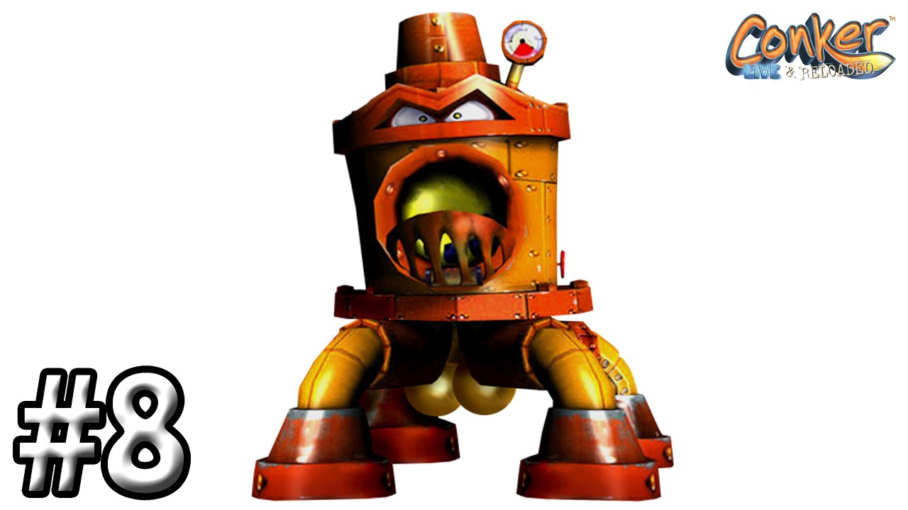 Conker Live And Reloaded Walkthrough 8 Chapter Bats Tower The Big Big Guy YouTube