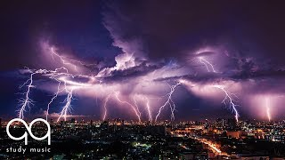 Thunderstorm and Rain Sounds for Studying • Post Rock Guitar Music for Focus and Concentration